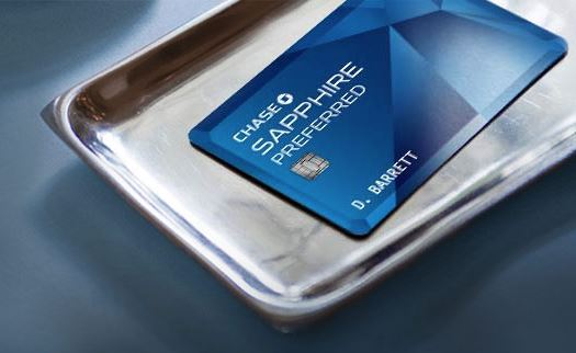 Chase Sapphire Preferred Credit Card on Silver Tray