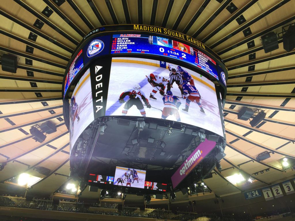 madison square garden ceiling scoreboard