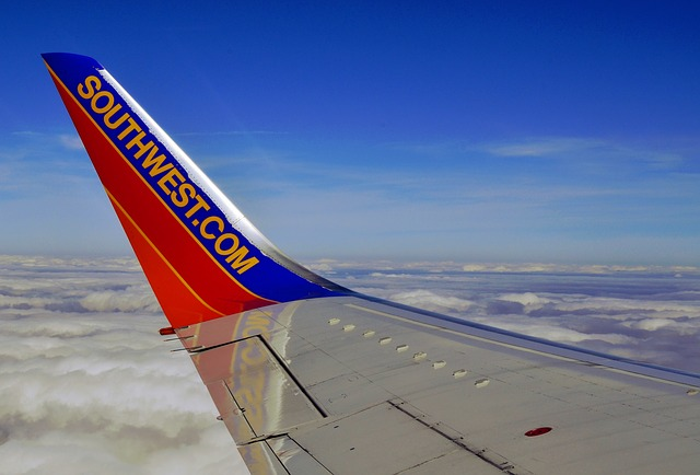 Southwest Airline Plane Fin with logo