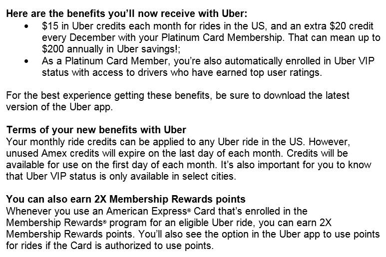 platinum card uber info