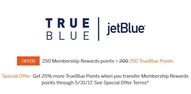25 Bonus Jetblue Points From Membership Rewards