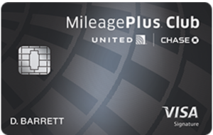 Chase United MileagePlus Club card image
