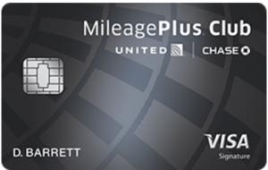 Chase United MileagePlus Club card image