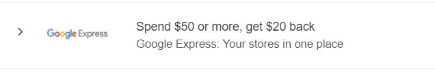 amex offers google express