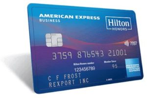 American Express Hilton Business credit card image