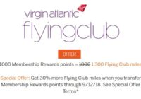 Membership Rewards to Virgin Atlantic Bonus Offer