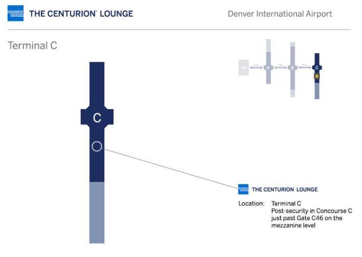 Denver Centurion Lounge Airport Location